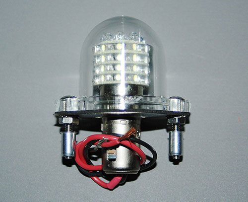 Anti-Collision/Beacon Assembly, Red, LED, 12 Volt, DC