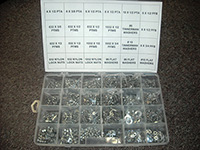 2,400 Piece Stainless Steel Screw Assortment Kit