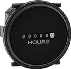 Round Quartz Hour Meter, 10-80 V DC