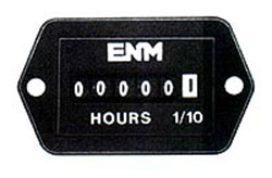 Rectangle Quartz Hour Meter, 10-80 V DC