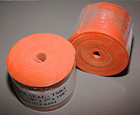 Silicone Baffle Seal, Orange (Iron Oxide Red) Non Reinforced