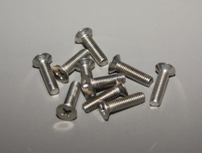 100 degree flat machine screws