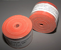 Silicone Baffle Seal, Orange (Iron Oxide Red) Reinforced